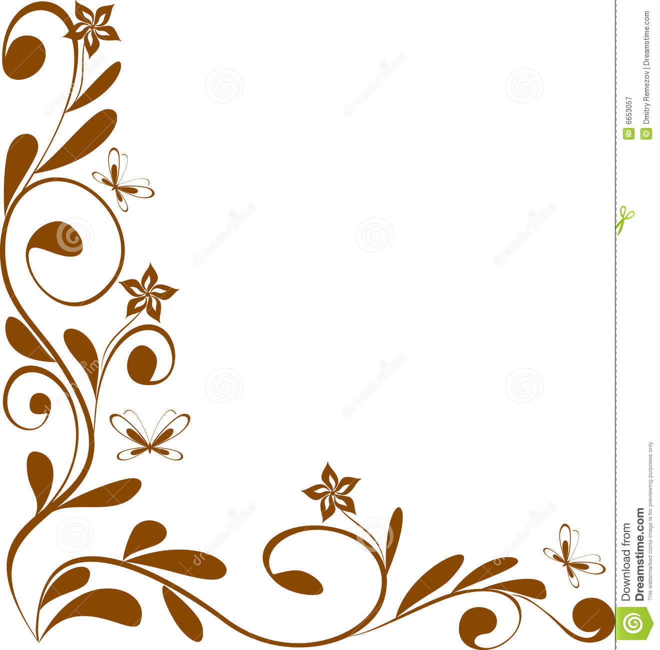 Floral design corner stock vector. Image of decoration ...