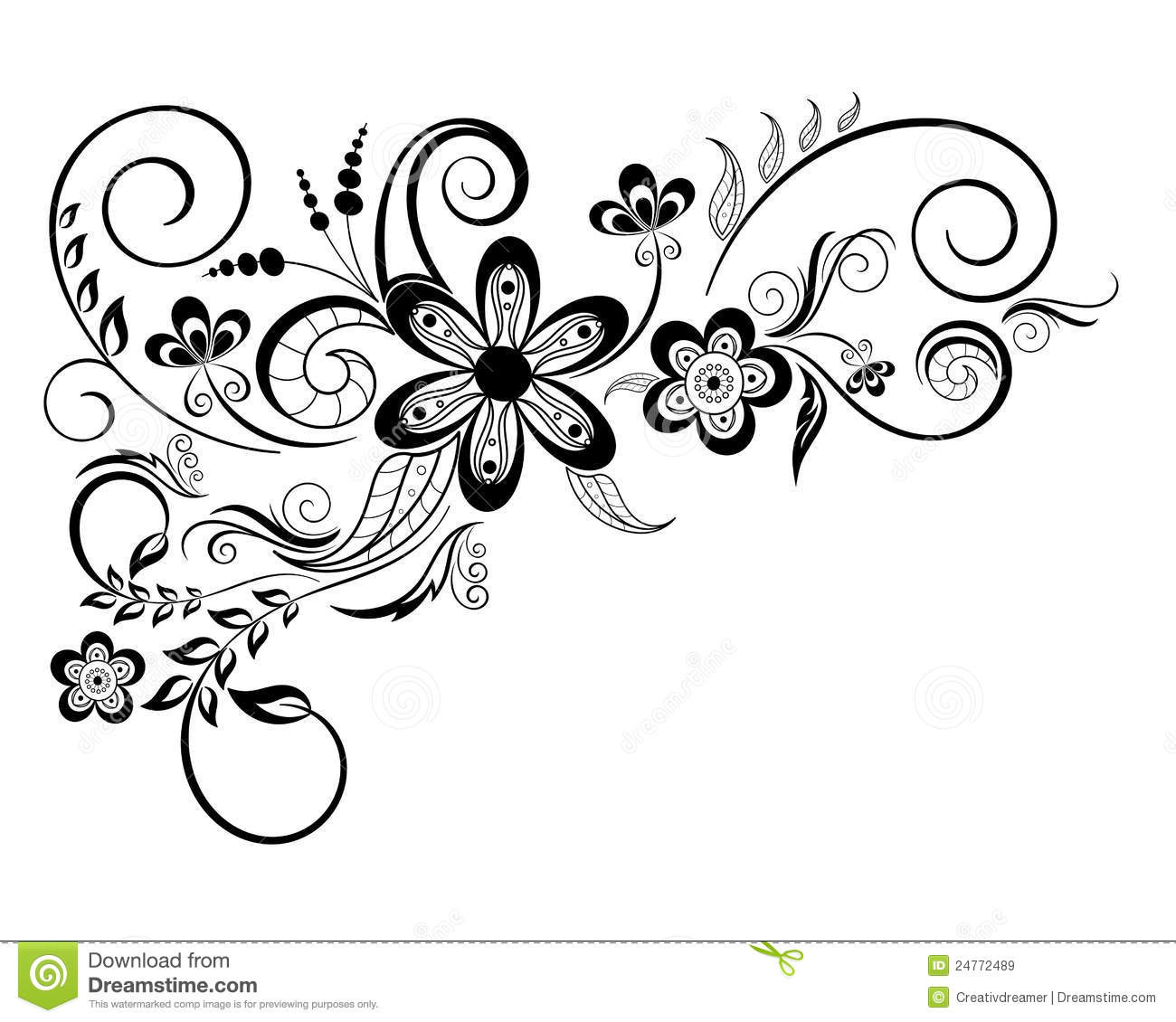 Simple Floral Swirl Patterns Www Pixshark Com Images