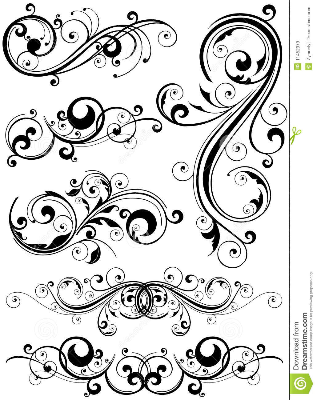Floral Design Elements Royalty Free Stock Images - Image: 11452979