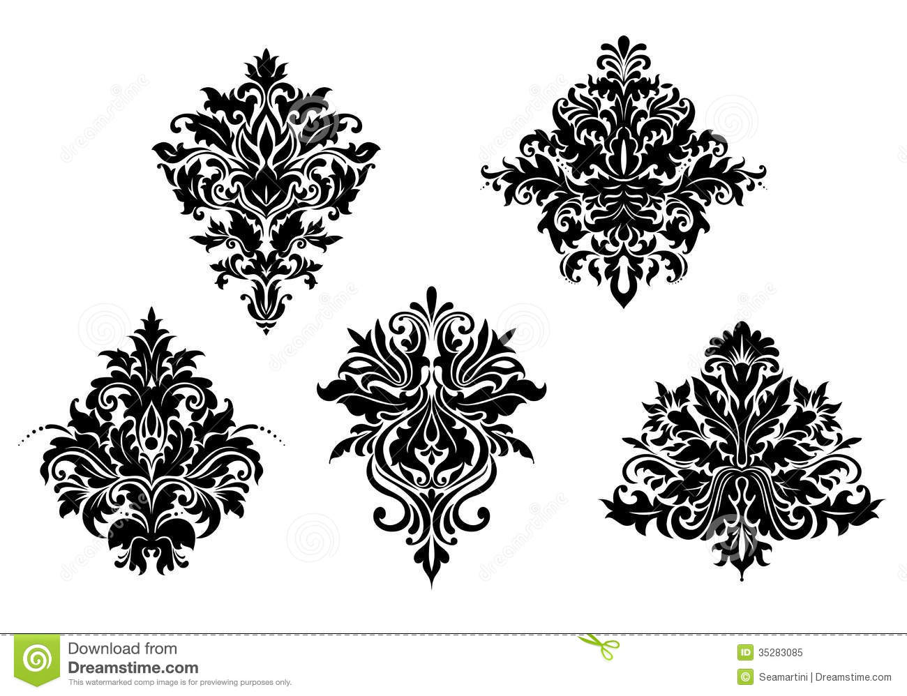 floral design elements stock vector illustration of filigree 35283085