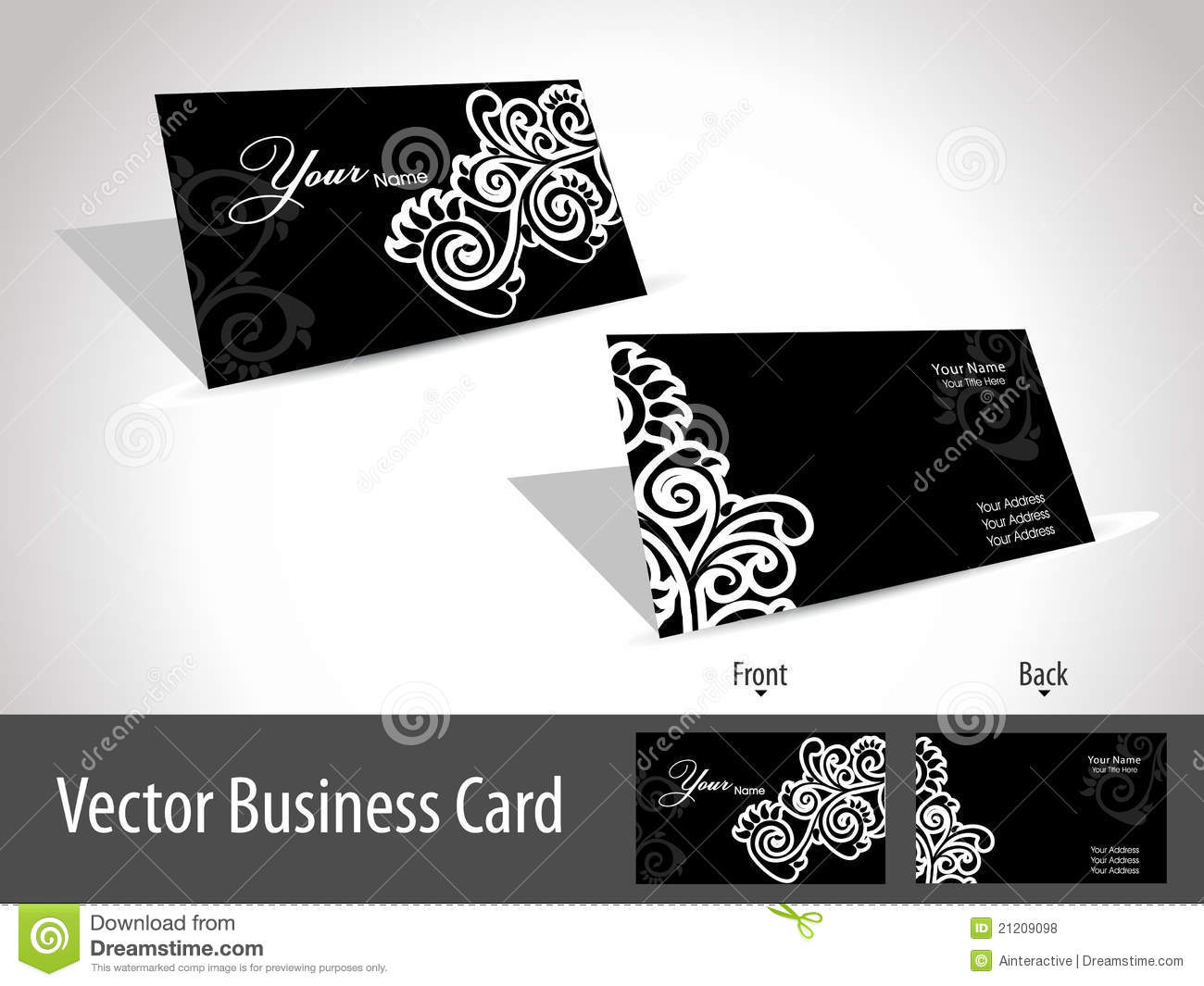 Floral Design Elgant Gift Card, Vector Stock Vector - Illustration ...