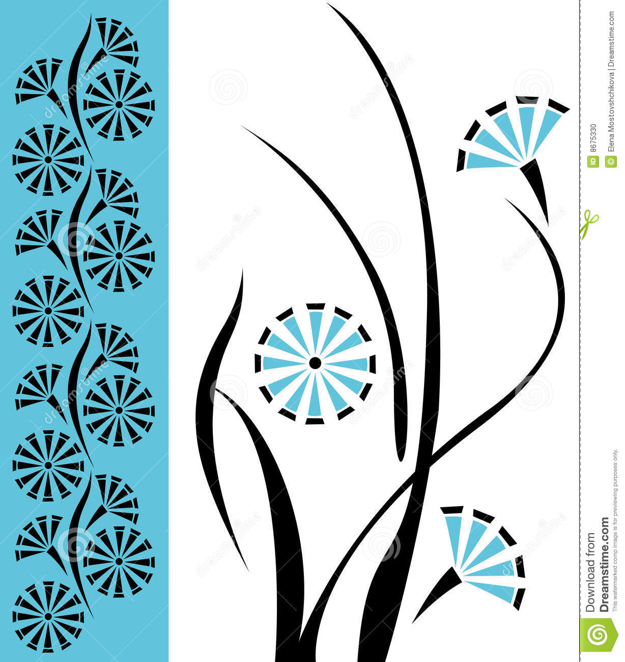 Floral design vector pattern stock vector illustration of fancy floral design vector pattern thecheapjerseys Choice Image