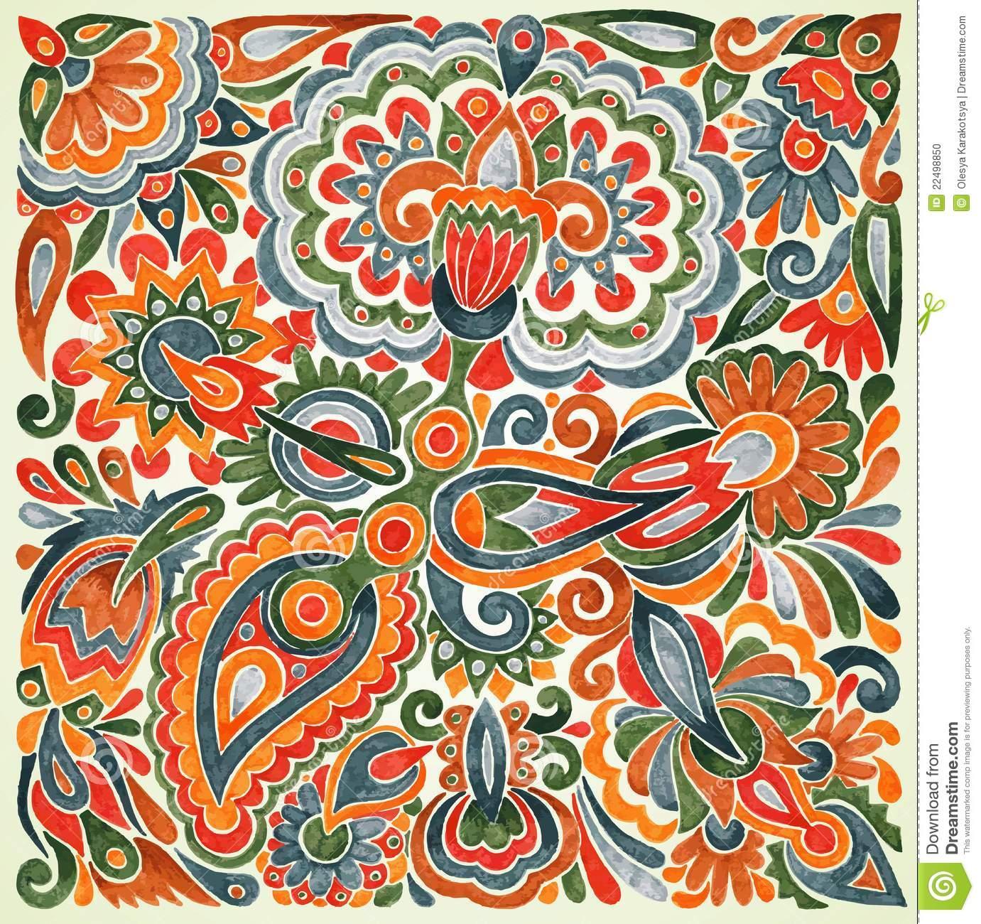 Floral ethnic design stock vector. Image of ethnicity