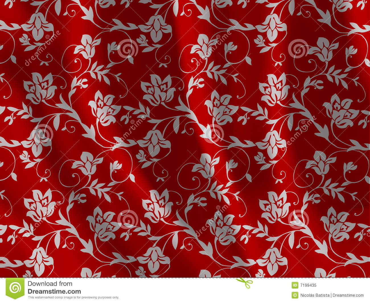 Floral Fabric Texture Stock Illustration Image Of Curve