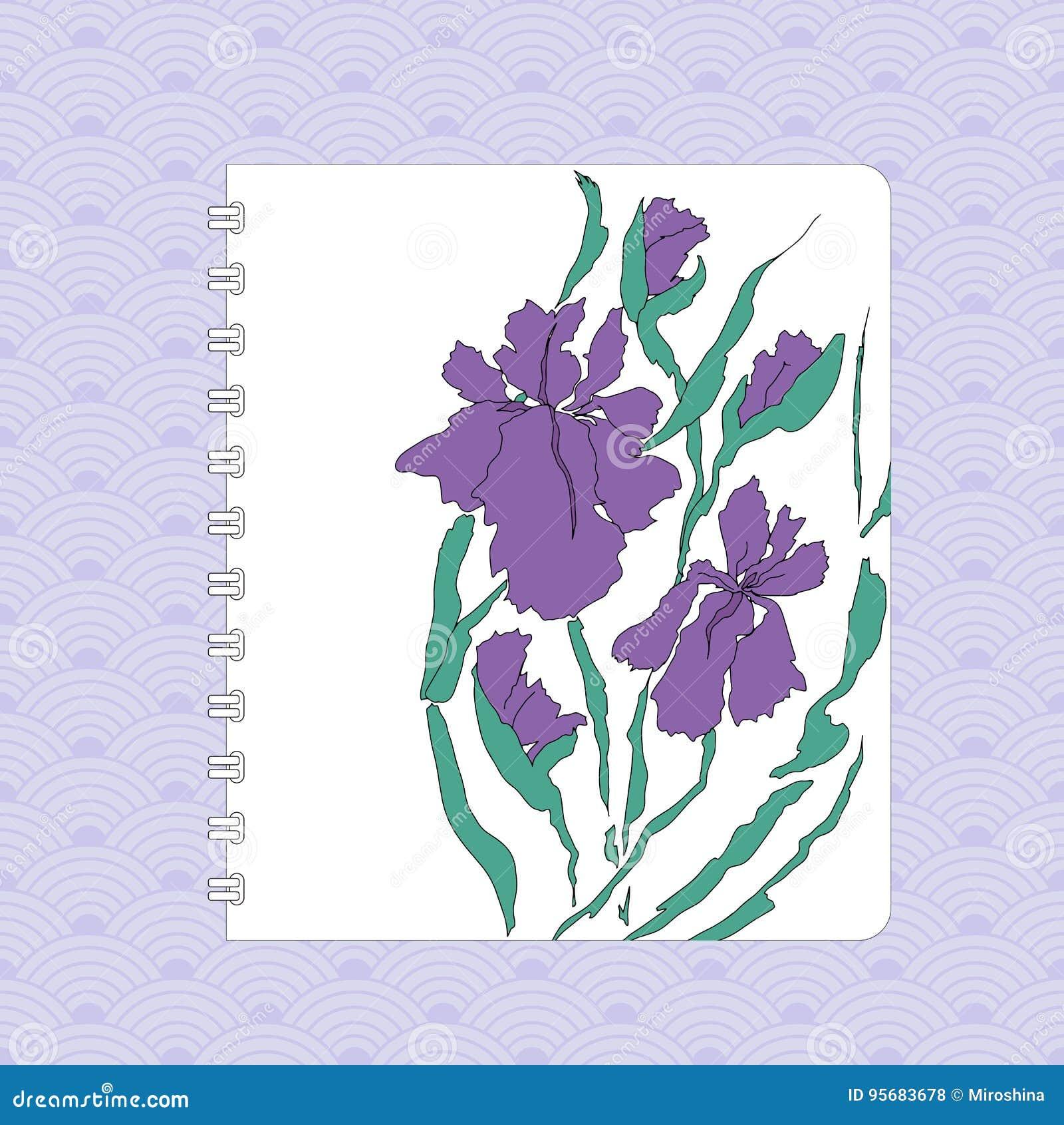 Floral Flyer Design Hand Drawing Illustration Stock Vector