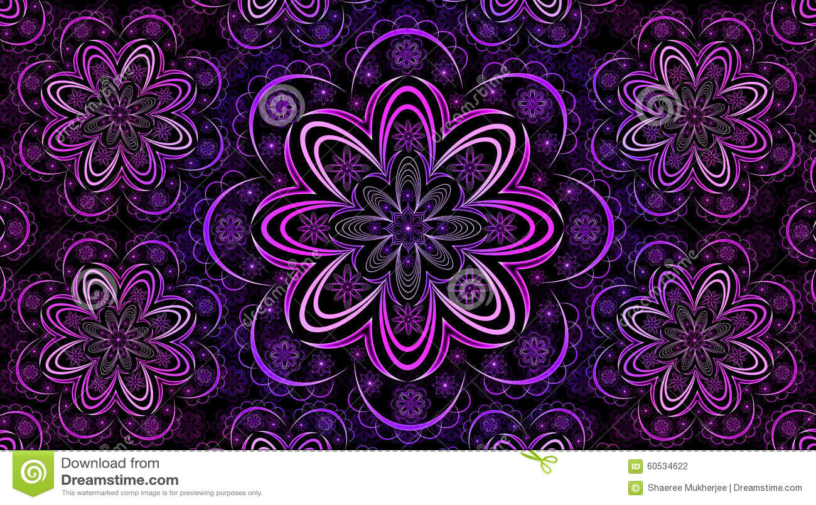 Floral Fractal Mandala... Light Colourful Backgrounds
