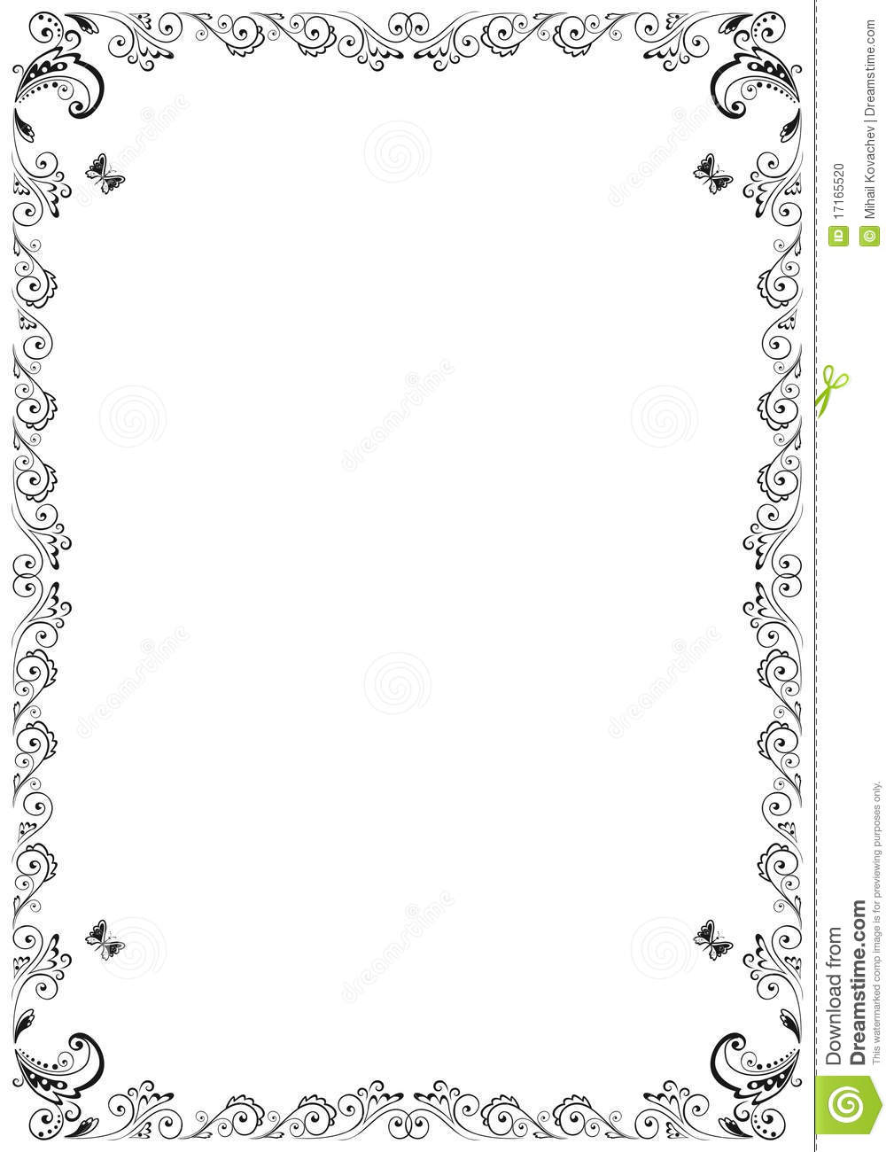 Floral Frame Stock Photo Image 17165520