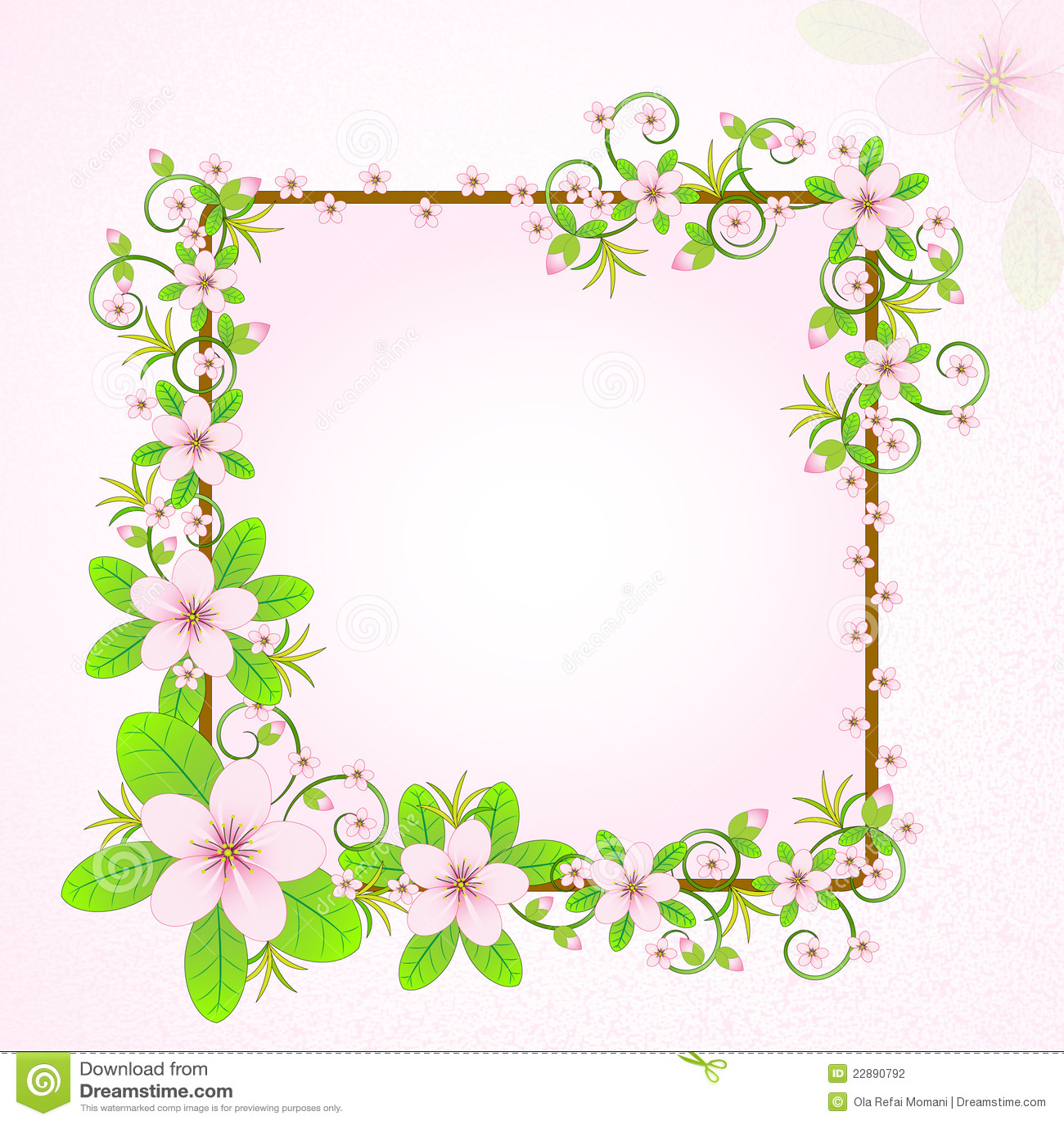 Floral Frame Stock Illustration Illustration Of Leaves