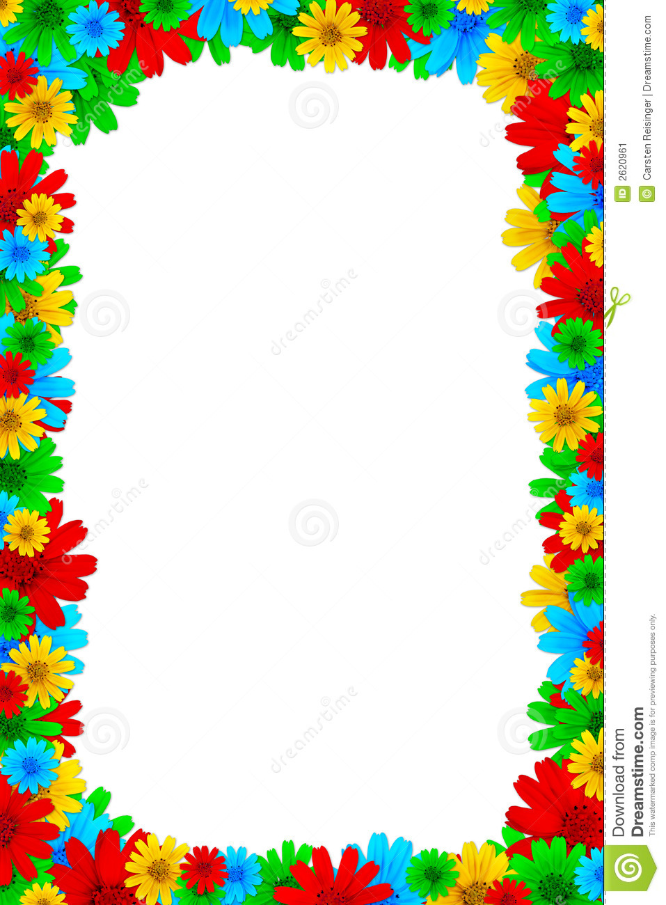 Floral Frame Stock Image Image Of Backdrop Copy Close