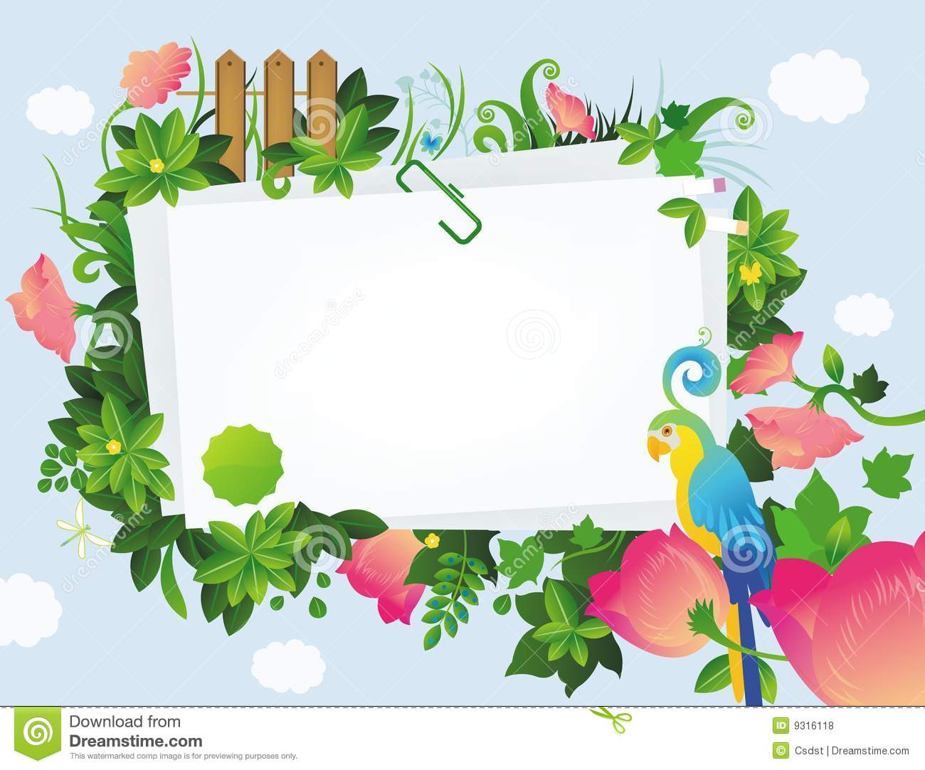 Floral Frame Royalty Free Stock Photos - Image: 9316118