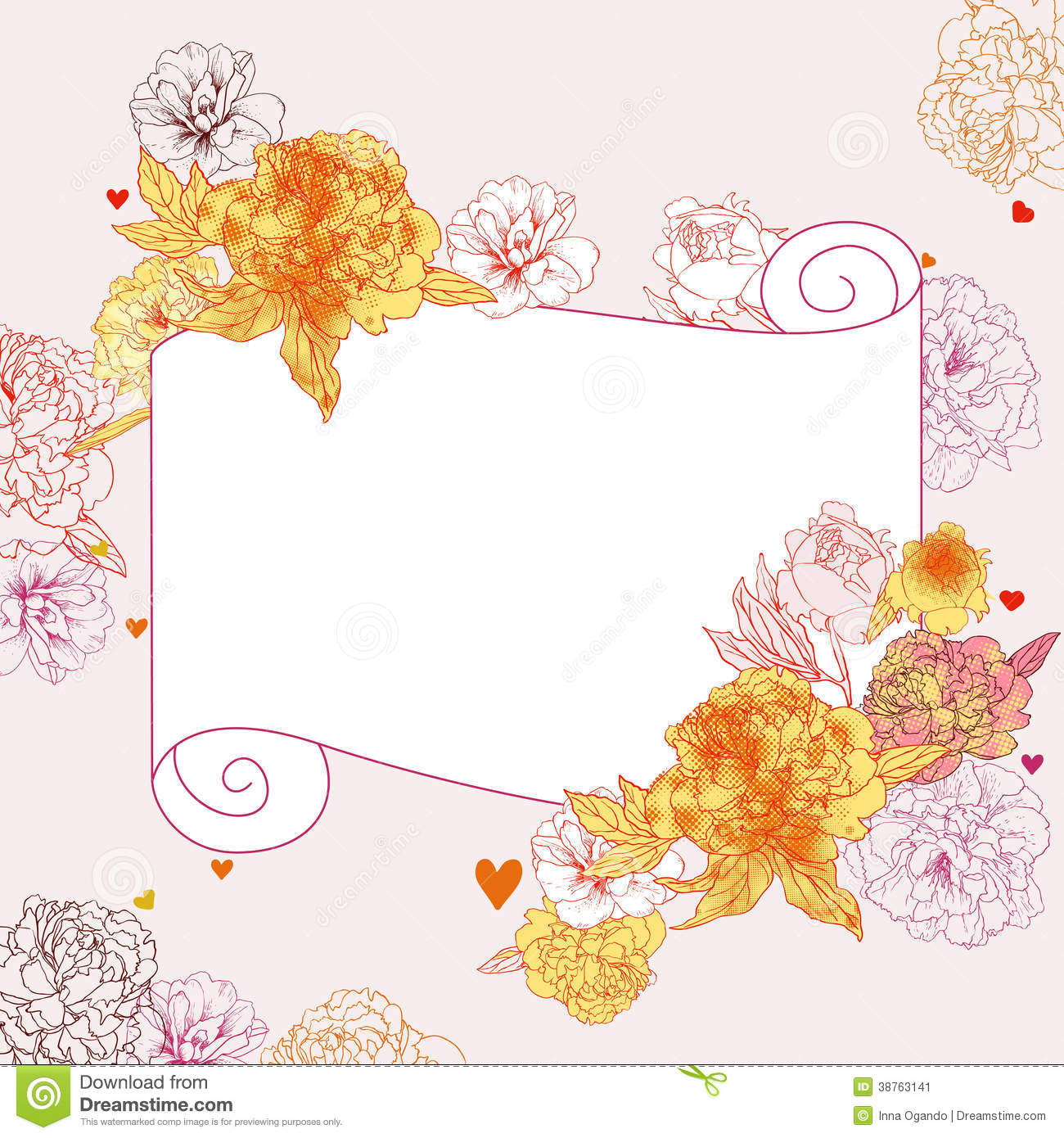 Blank invitation card for wedding design yaseen for floral frame stock imageimage 38763141 blank invitation card stopboris Image collections