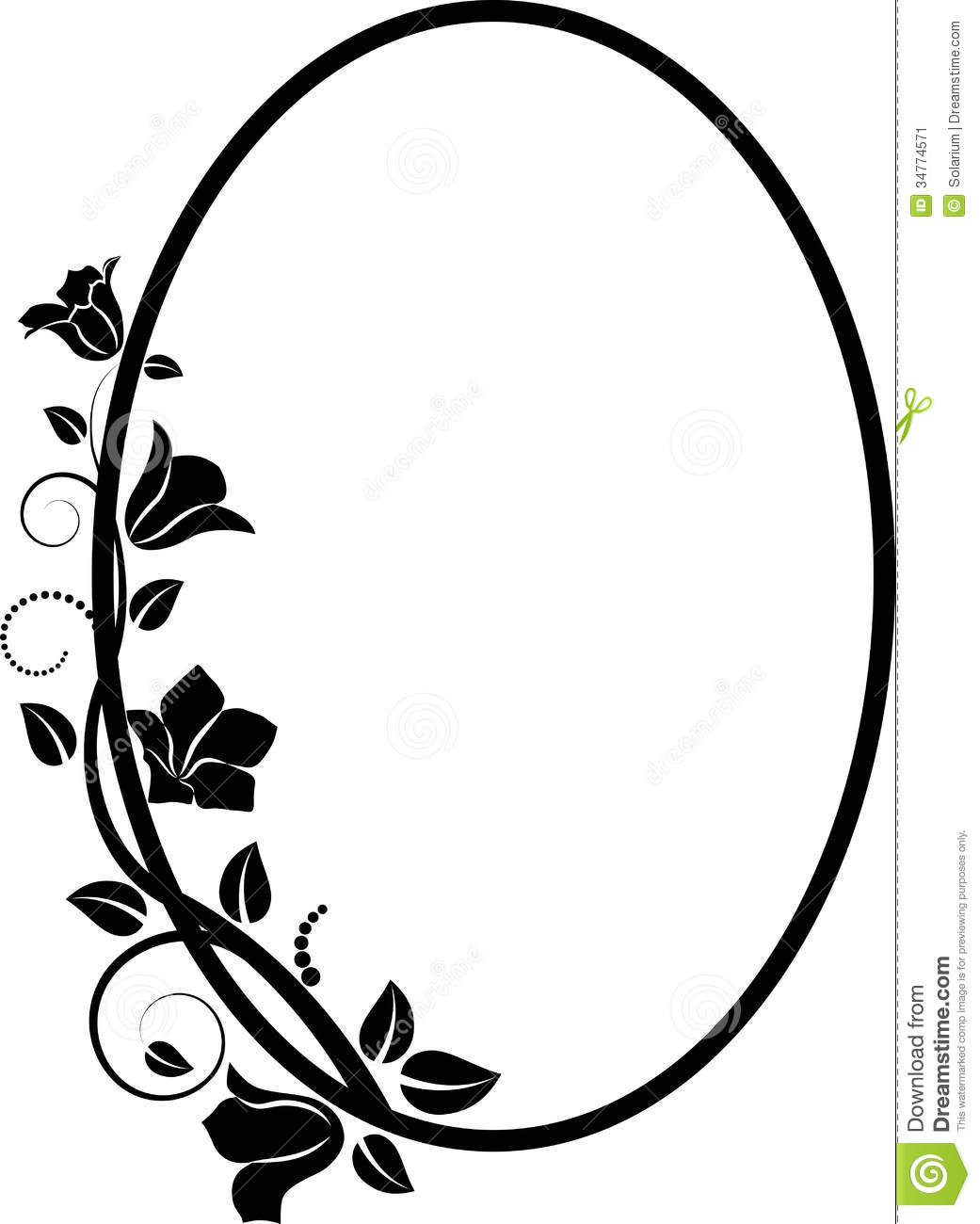 floral frame stock vector illustration of oval isolated 34774571 rh dreamstime com frame clip art free download frame clipart free download