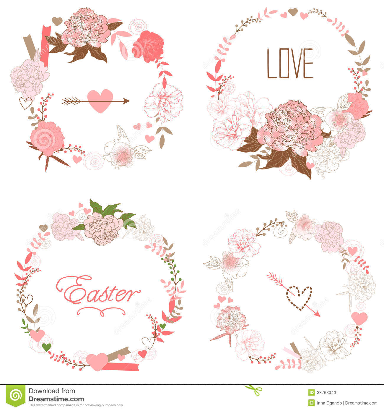 ... of the wreath perfect for wedding invitations and birthday cards