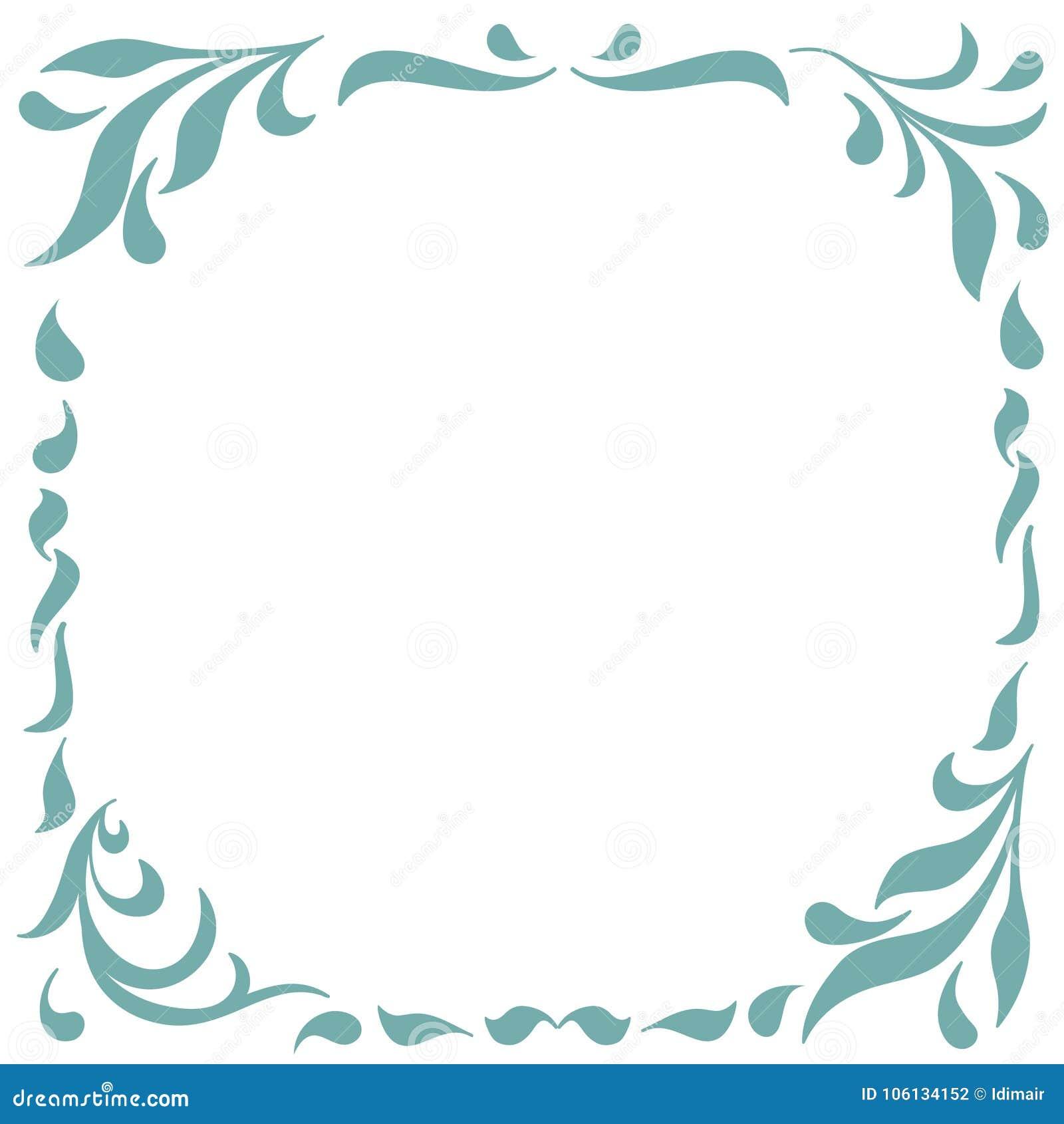 Floral Frame For Design Of Monograms, Invitations, Frames, Menus ...