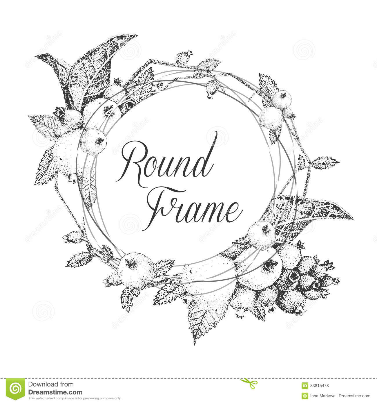 Floral frame for greeting cards or invitations black and white download comp m4hsunfo