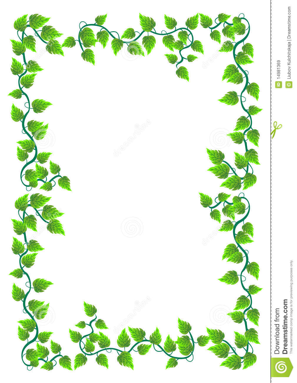 ... Frame With Leafs. Vector. Royalty Free Stock Images - Image: 14981369