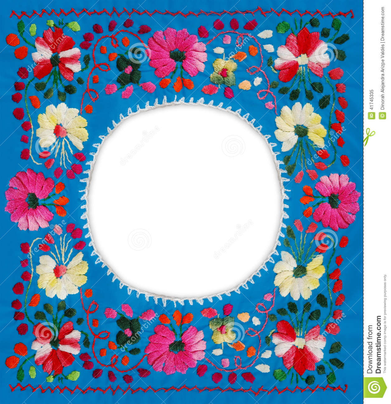 Floral frame stock photo image