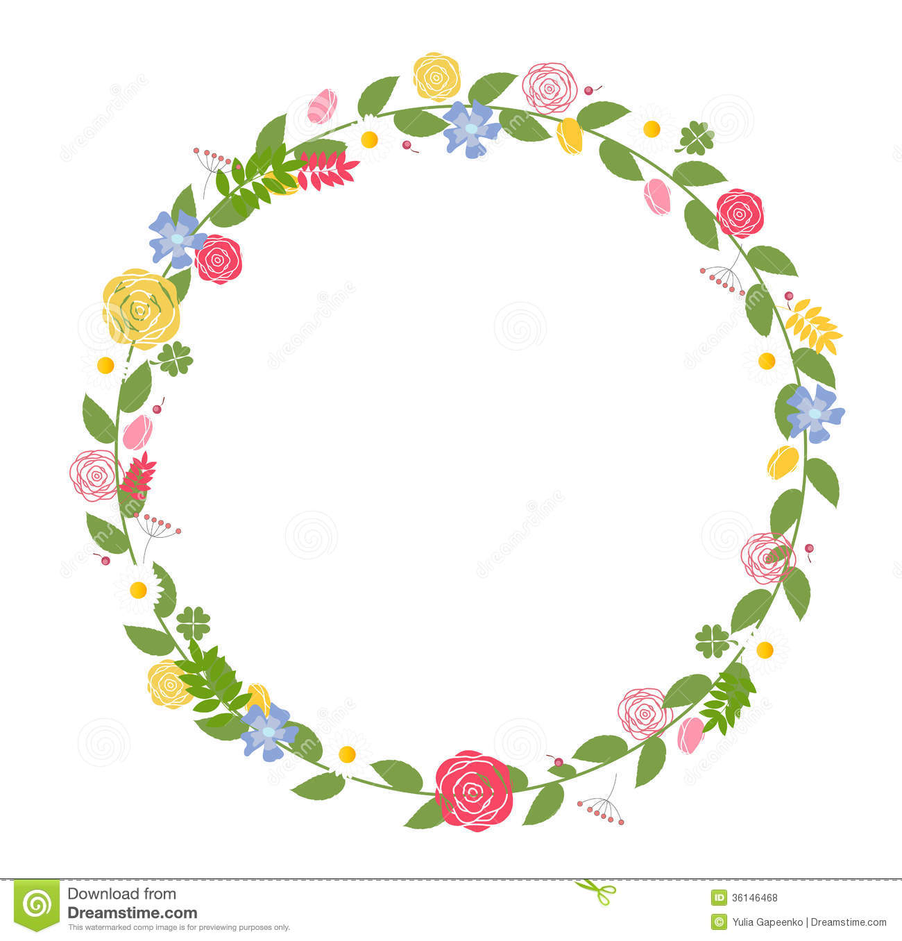 Floral Frame For Wedding And Birthday Card Vector Royalty