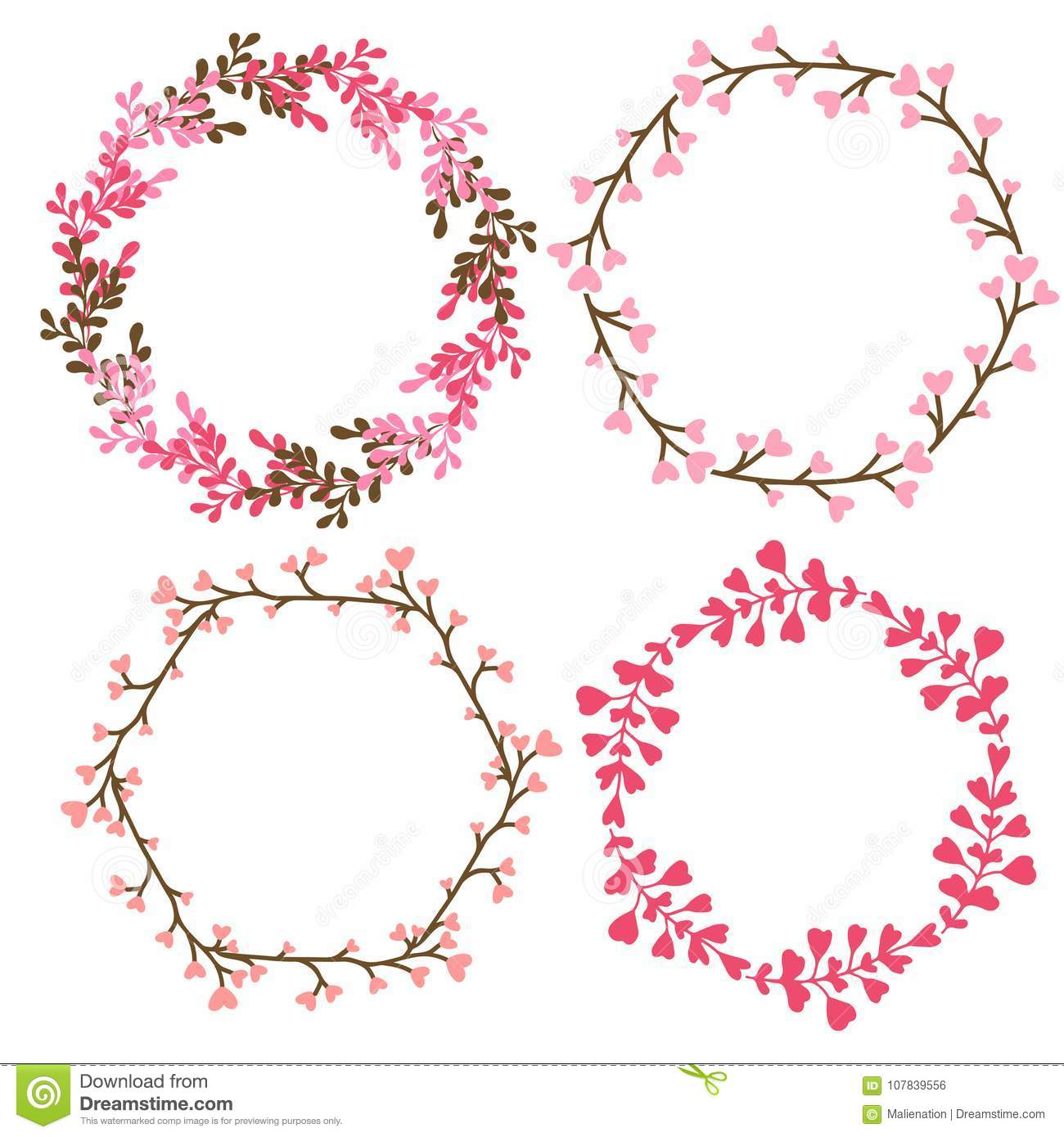Floral Frames Decoration. Vector Decorative Elements In