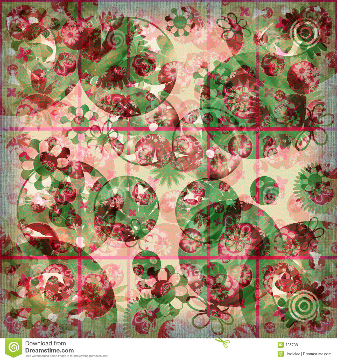 Floral Frenzy Shabby Background