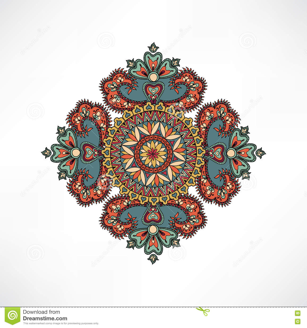 geometric pattern element abstract mandala stock vector image