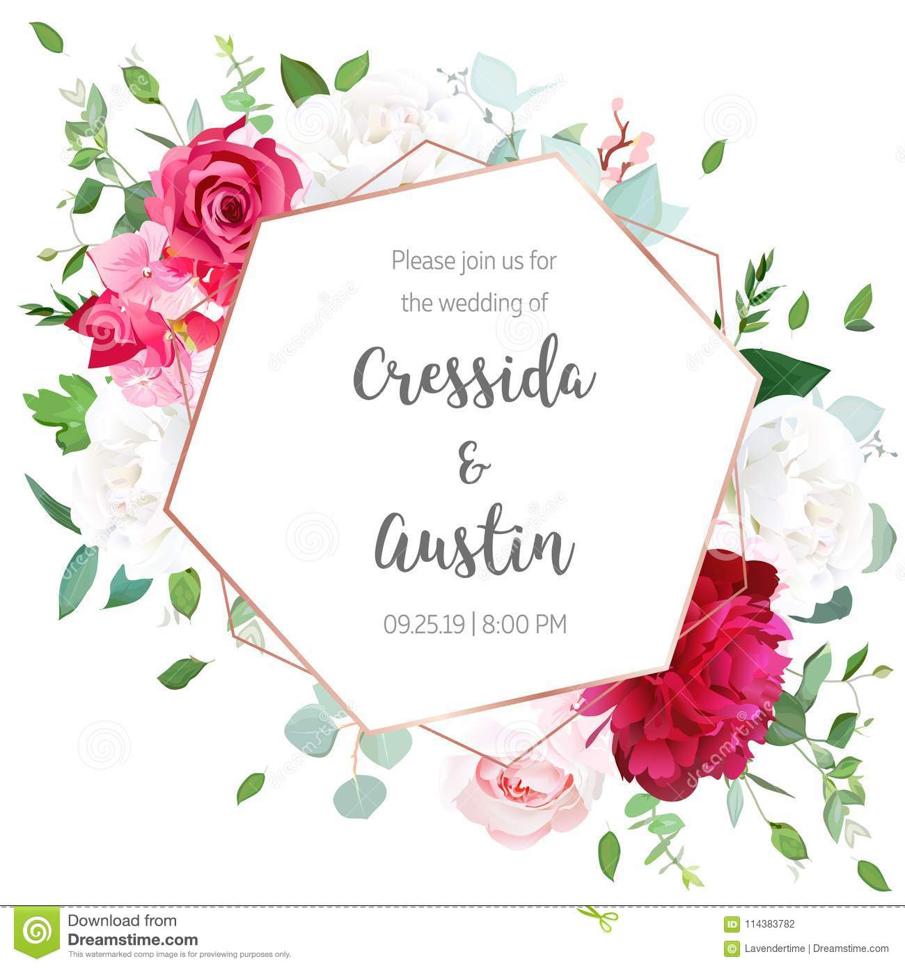 Floral Geometrical Vector Design Frame Stock Vector