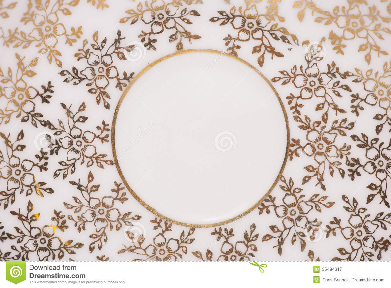 Floral Gold And White Abstract Royalty Free Stock