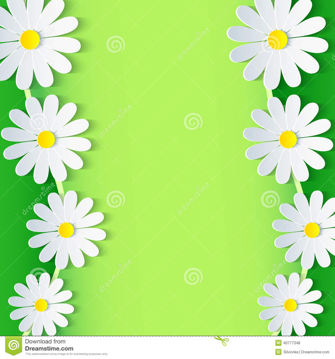 free green floral frame - photo #47