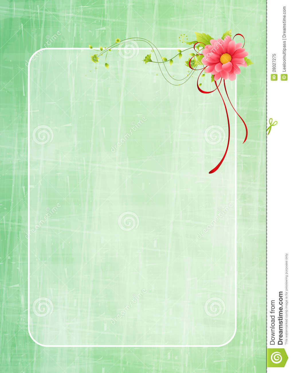 Floral greeting card design stock illustration illustration of floral greeting card design m4hsunfo