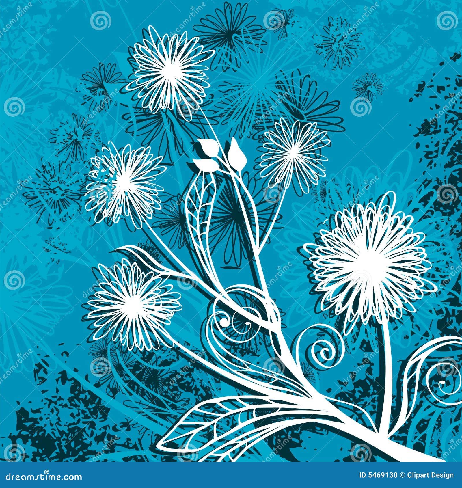 Floral grunge background stock vector. Illustration of ...