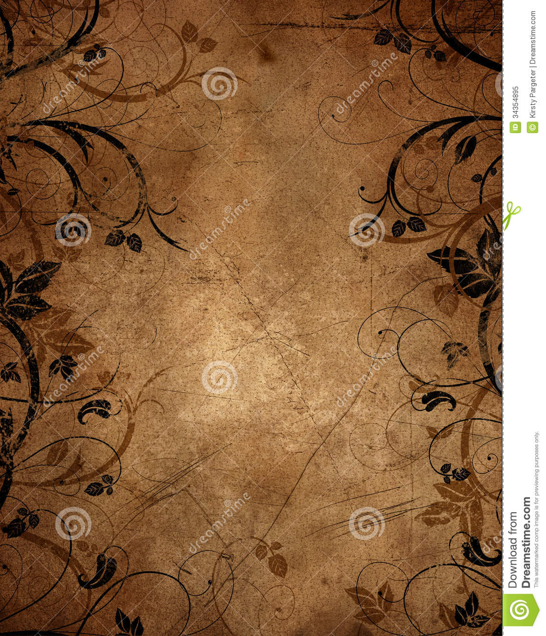 Floral Grunge Background Royalty Free Stock Photo - Image: 34354895