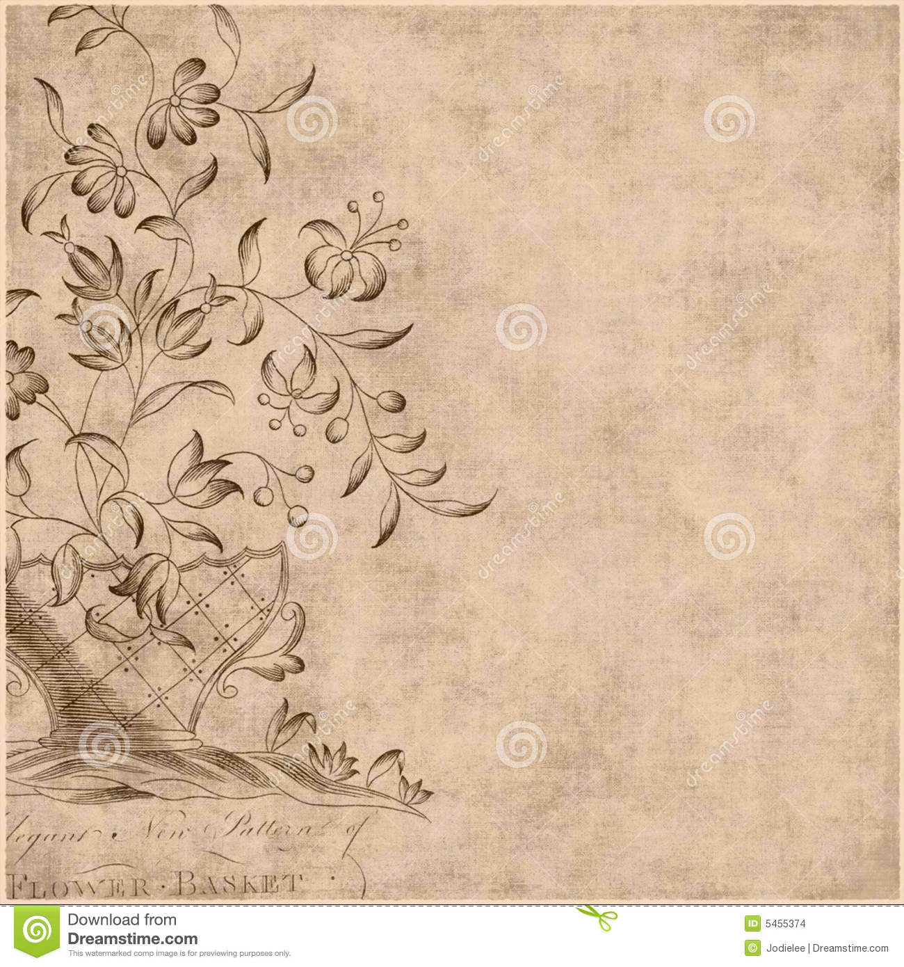 Floral Gypsy Bohemian Style Background
