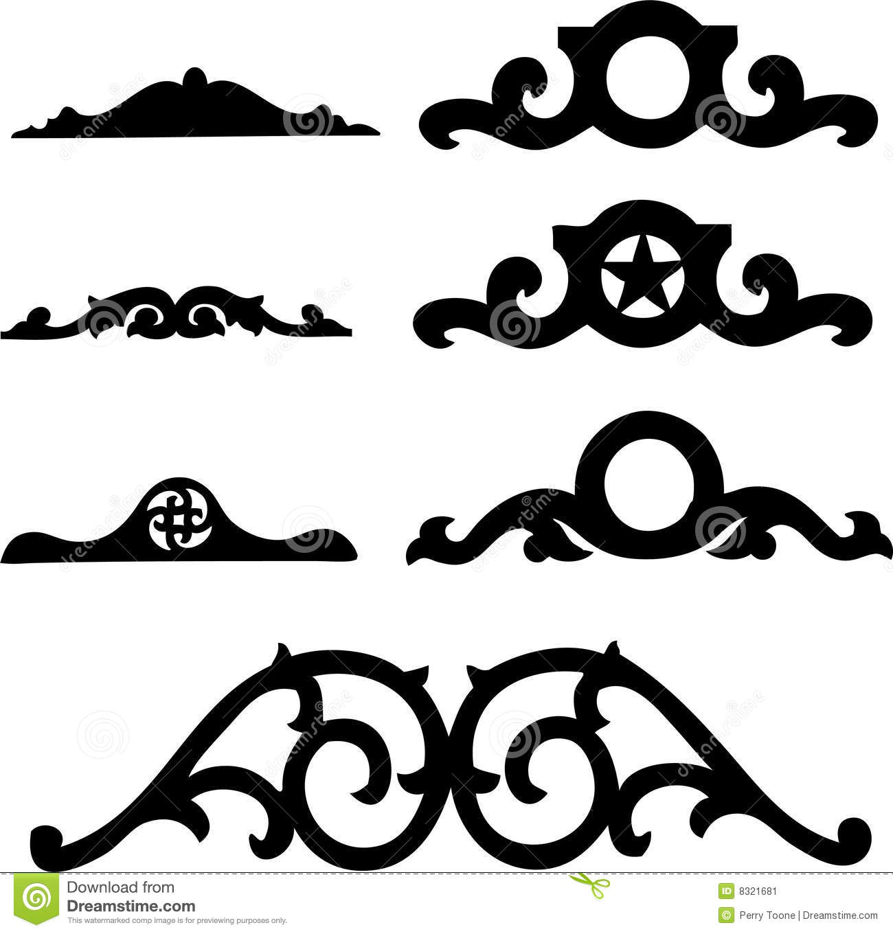 floral header set stock vector  image of architecture