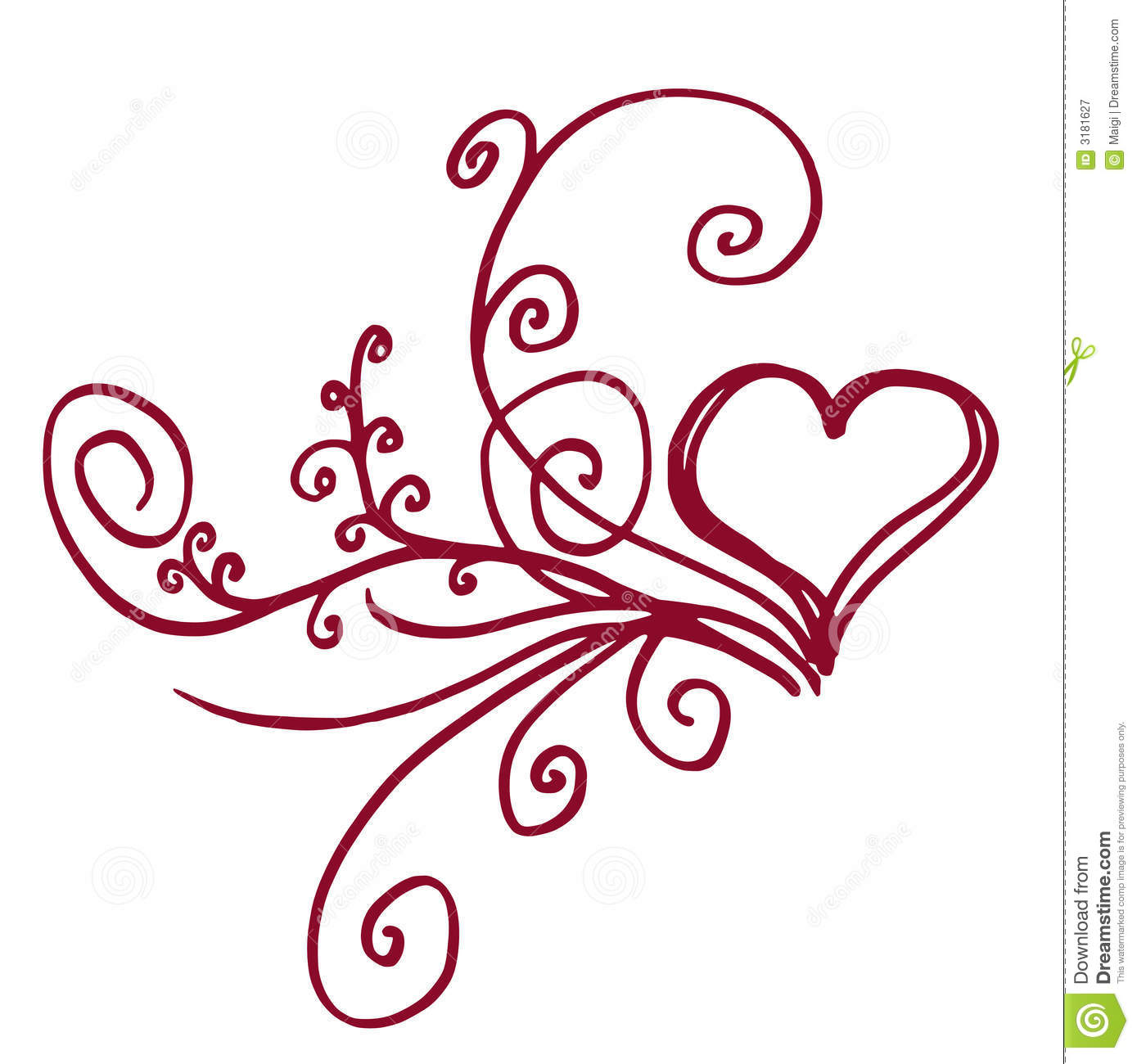 floral heart royalty free stock photography image 3181627 Free Business Card Graphics Business Card Borders