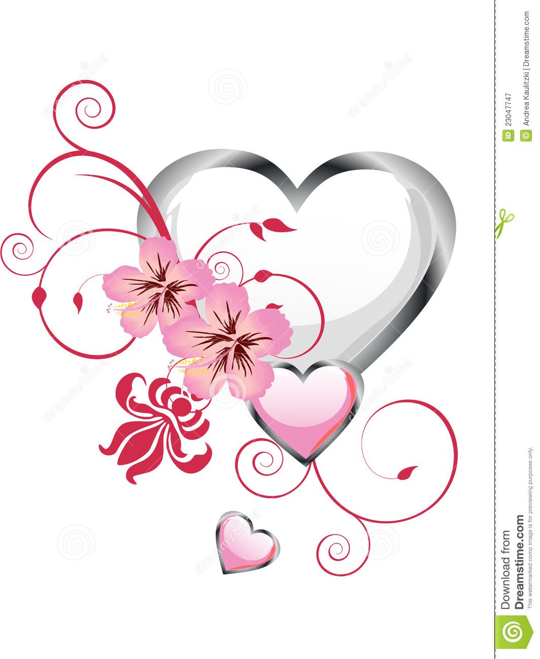Floral heart design royalty free stock photography image for Heartbeat design