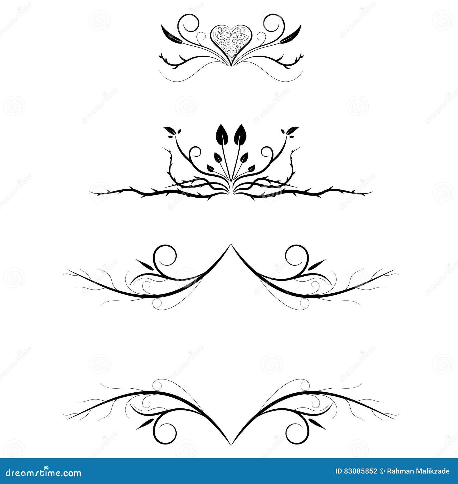 decorative line divider heart wwwimgkidcom the image
