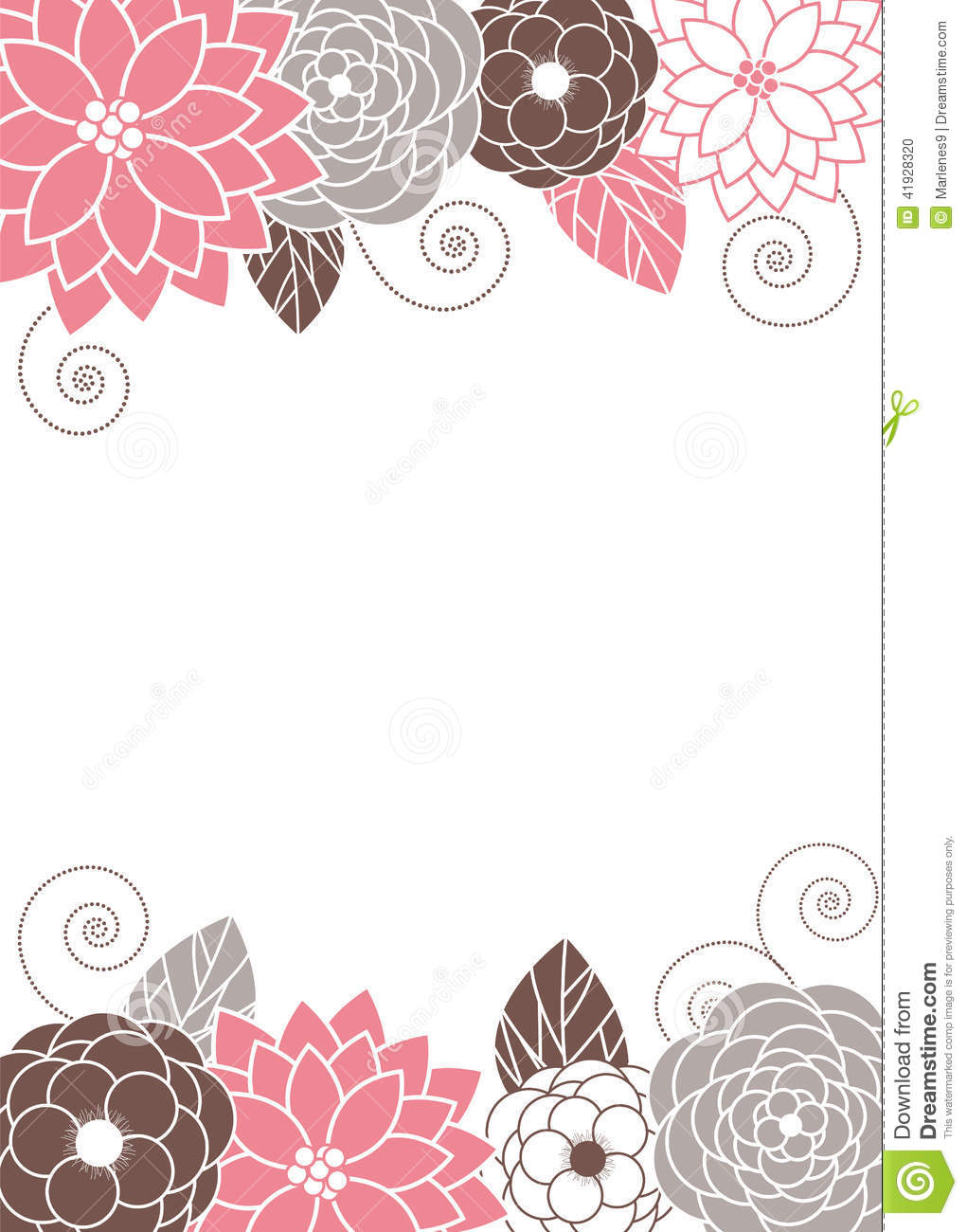 Floral invitation Card stock vector Illustration of card 41928320