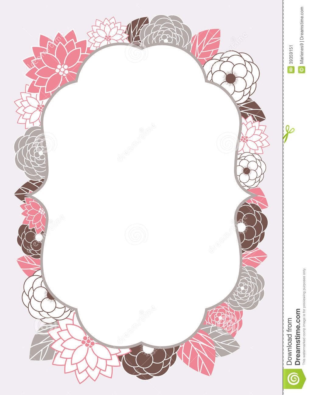 Floral Invitation Card Template Vector Image 39359151 – Template Invitation
