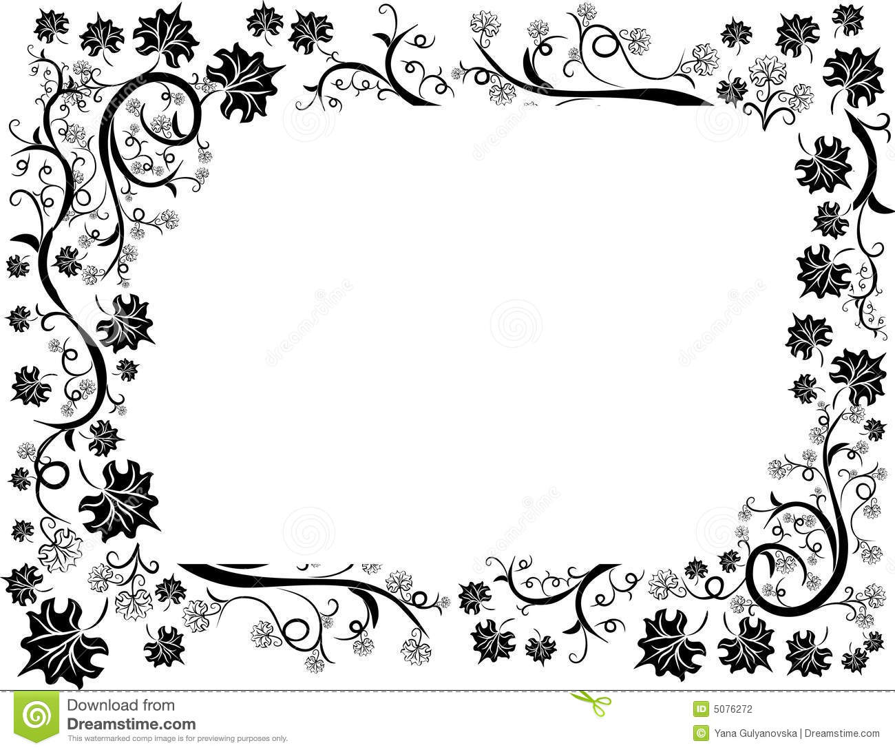 Floral Leafs Design Frame Stock Photography - Image: 5076272