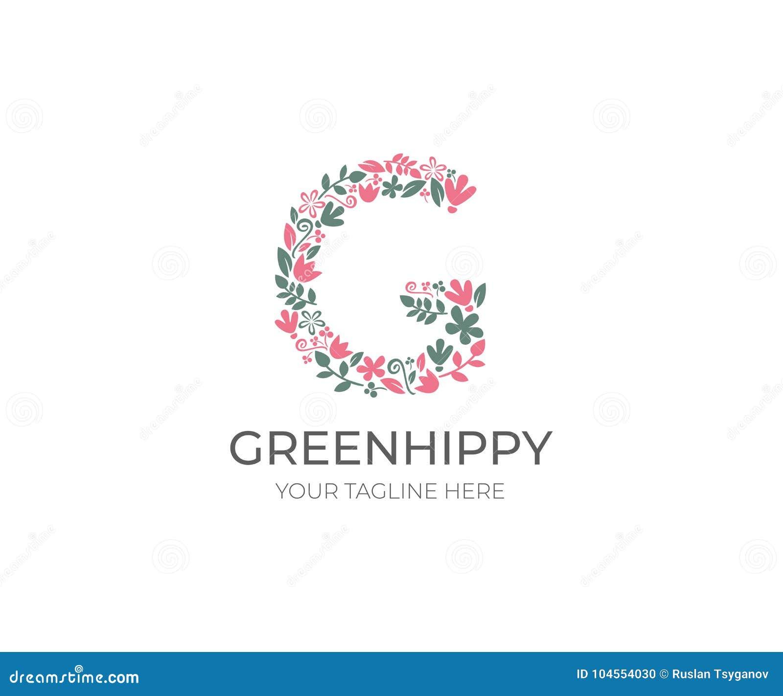 Floral letter g logo template nature vector design stock vector floral letter g logo template nature vector design maxwellsz