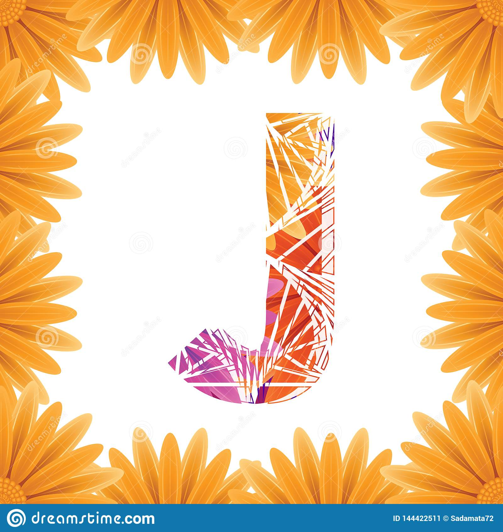 Floral Letter J design template. Mother's Das flower logo type design concept of Abstract alphabet logo