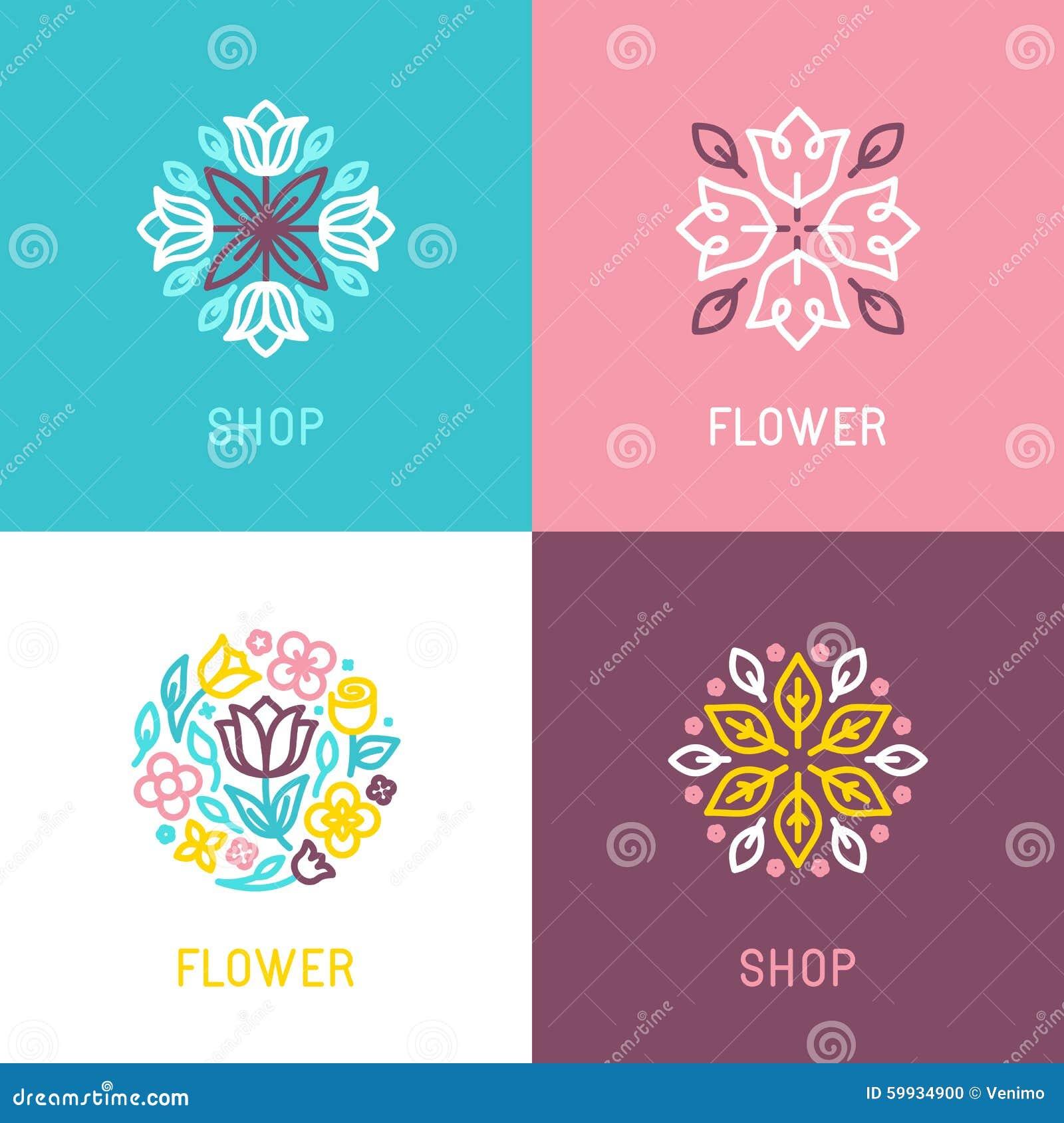 Floral Logo Design Element Stock Vector. Illustration Of