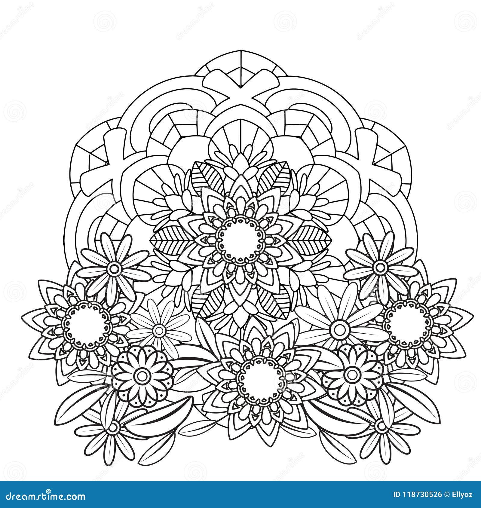 Floral Mandala Pattern Stock Vector Illustration Of Bohemian