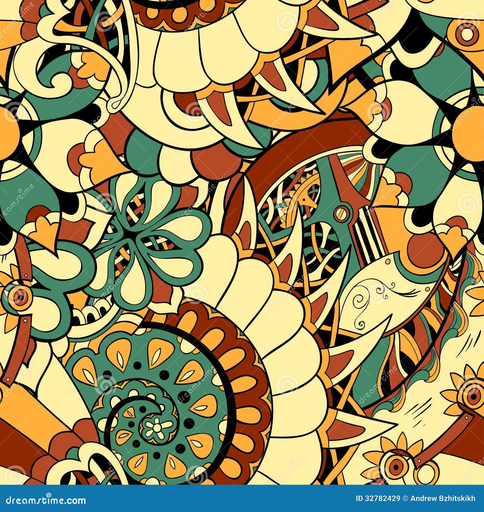 Floral Mechanism Seamless Stock Illustration  Illustration Of Mechanical