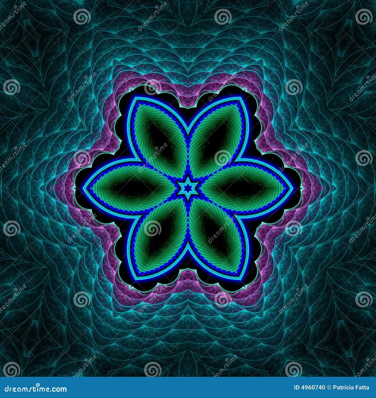 Floral mesh star quilt