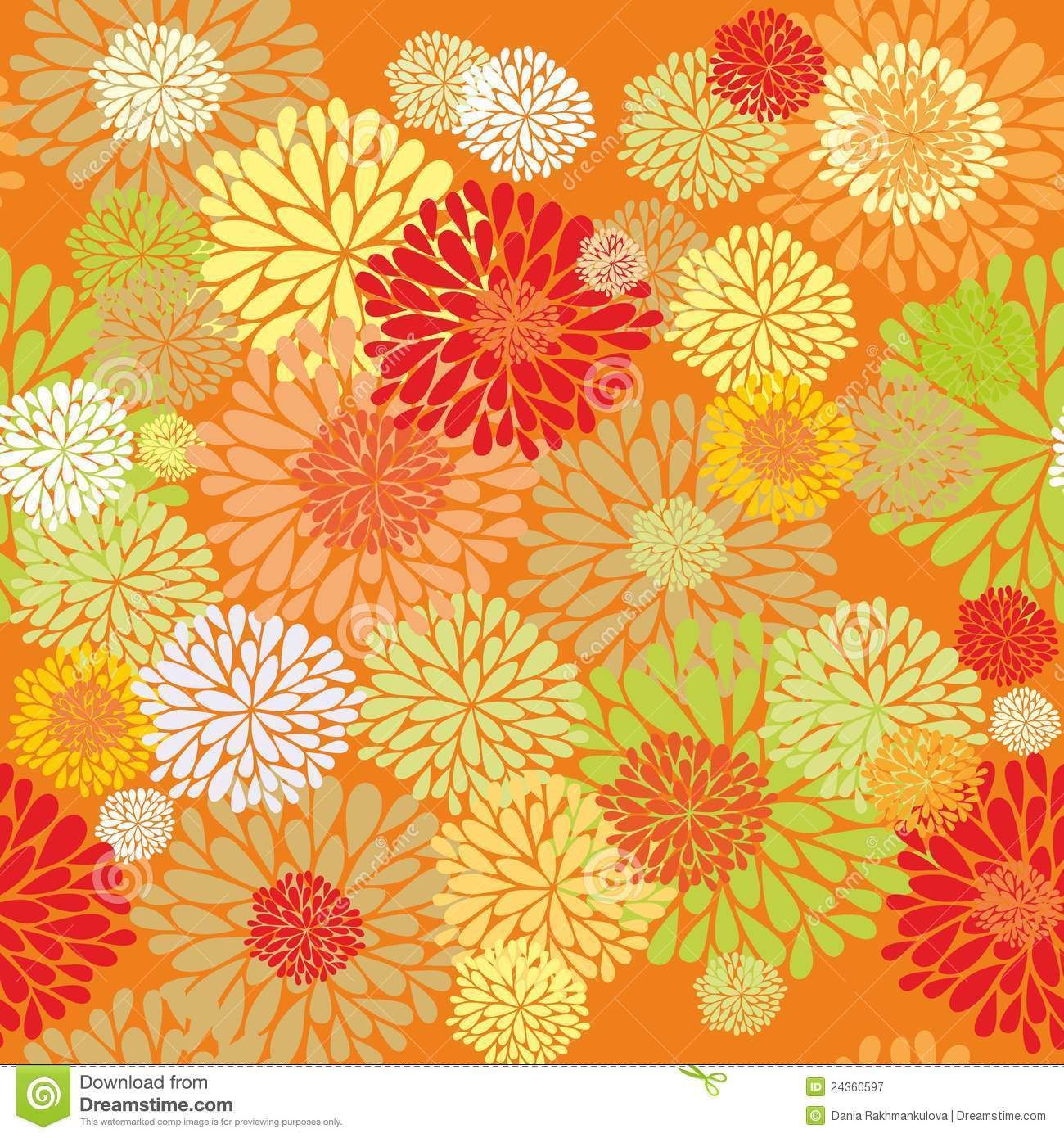 Floral Orange Pattern Royalty Free Stock Photography - Image: 24360597