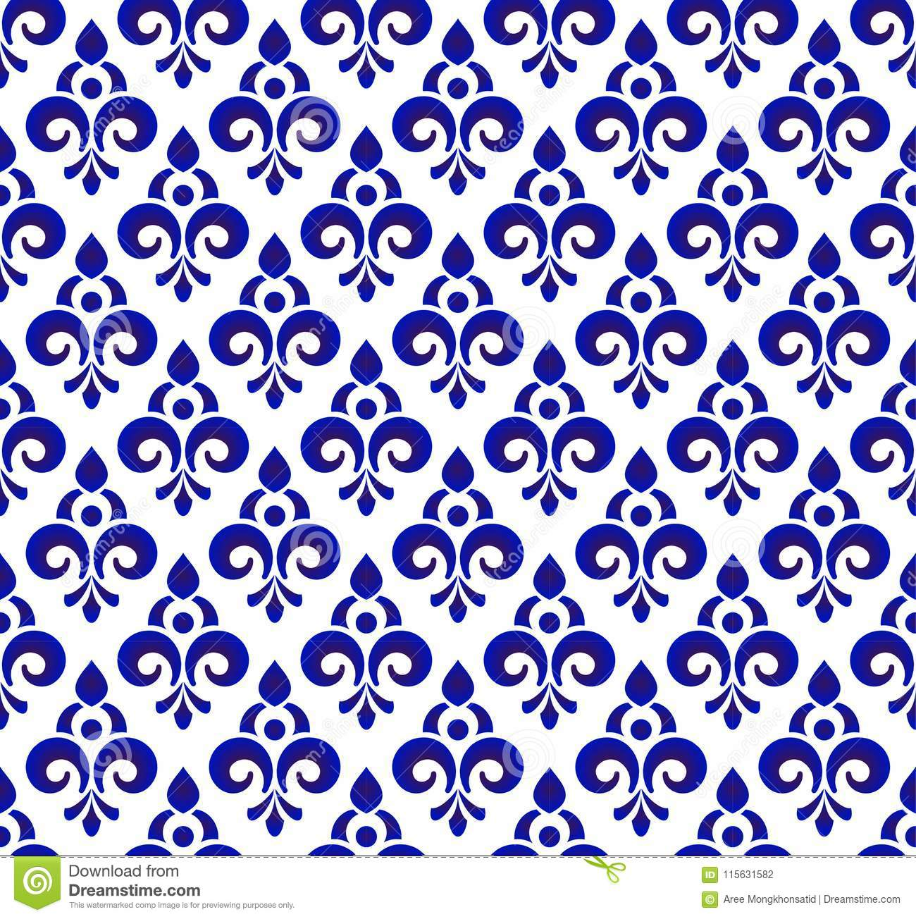 Royal Blue Pattern Stock Vector Illustration Of Illustration