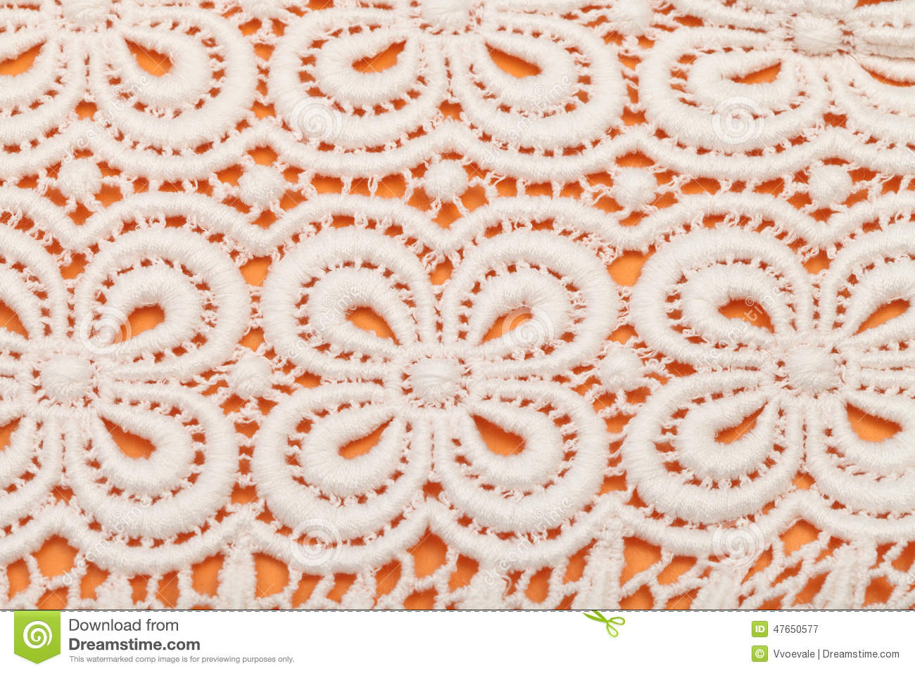 Floral Ornament By Machine Knitting Guipure Lace Stock Image - Image ...