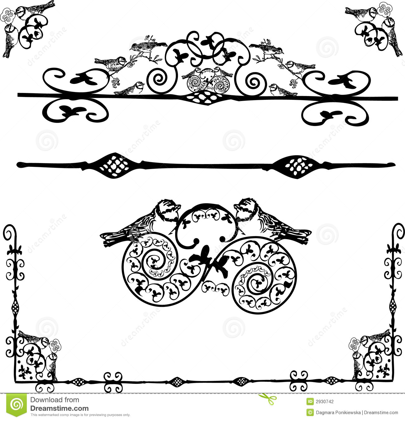 Stock Photography Floral Ornament Vector Image2930742 on Lines Symmetry 2