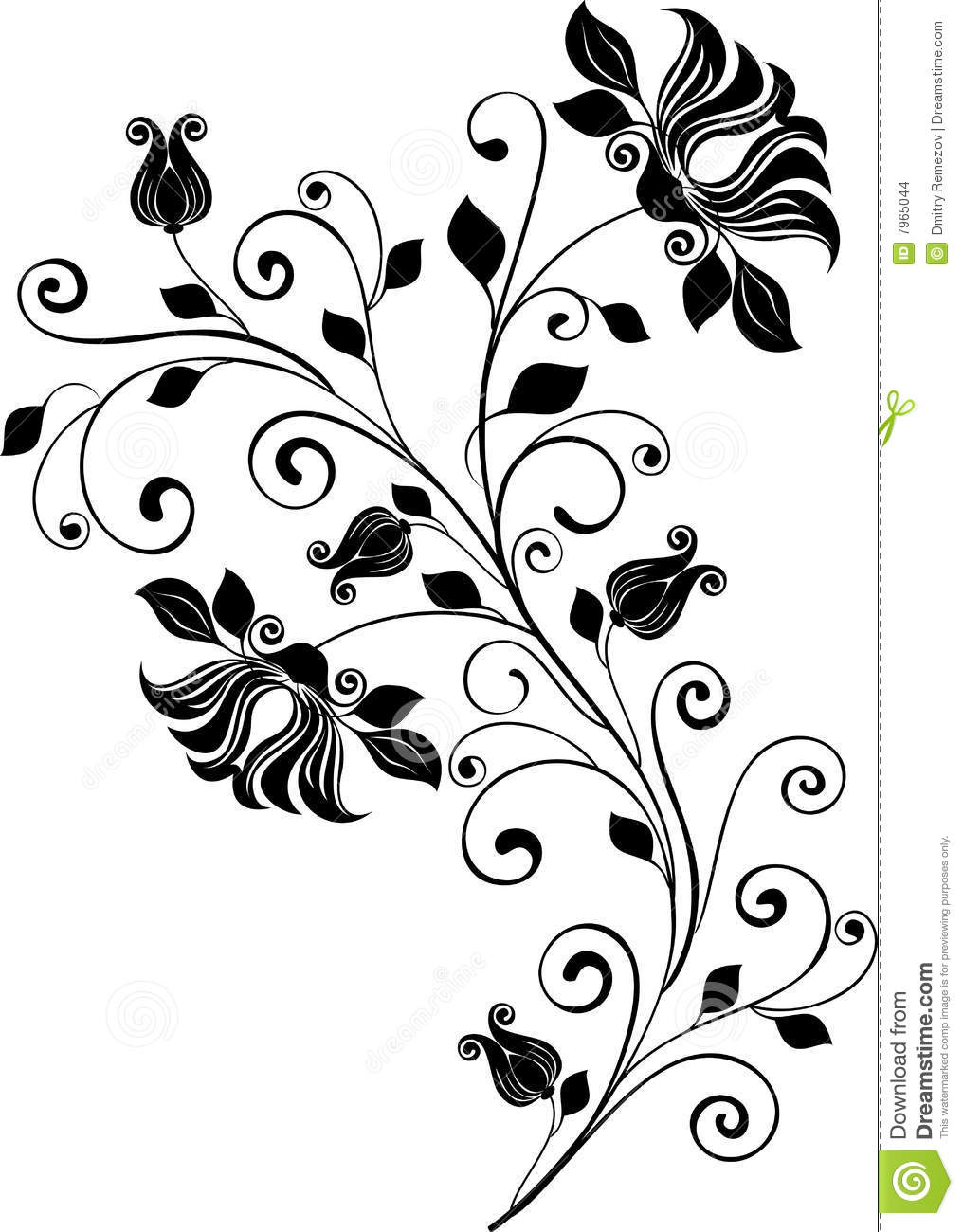 Wedding Flowers Vector Free Download : Floral ornament vector stock images image
